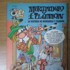 Cómics: F. IBÁÑEZ - COLECCIÓN OLÉ EDICIONES B - MORTADELO Y FILEMÓN Nº 107 - LA HISTORIA DE MORTADELO Y .... Lote 182686088