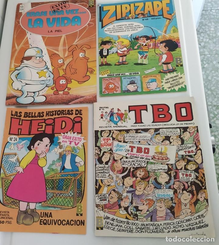 LOTE DE 4 TEBEOS: HEIDI, TBO, ZIPI Y ZAPE, ÉRASE.. (Tebeos y Comics - Ediciones B - Otros)