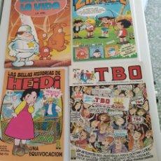 Cómics: LOTE DE 4 TEBEOS: HEIDI, TBO, ZIPI Y ZAPE, ÉRASE... Lote 182741833