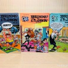 Cómics: TRES CÓMICS DE MORTADELO Y FILEMÓN EDICIONES B OLE!.. Lote 182862138
