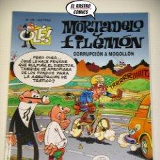 Cómics: OLÉ! Nº 125, MORTADELO Y FILEMON, IMPECABLE, EDICIONES B, FORMATO GRANDE, CORRUPCION A MOGOLLON. Lote 182979706