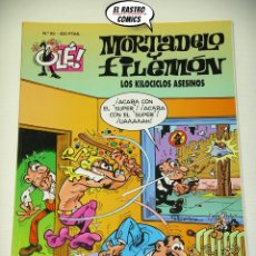 Cómics: OLÉ! Nº 85, MORTADELO Y FILEMON, IMPECABLE, B, FORMATO GRANDE, LOS KILOCICLOS ASESINOS. Lote 182990701