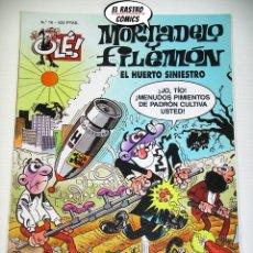 Cómics: OLÉ! Nº 16, MORTADELO Y FILEMON, IMPECABLE, B, FORMATO GRANDE, EL HUERTO SINIESTRO. Lote 182993978