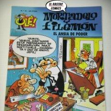 Cómics: OLÉ! Nº 10, MORTADELO Y FILEMON, IMPECABLE, B, FORMATO GRANDE, EL ANSIA DE PODER. Lote 182996092