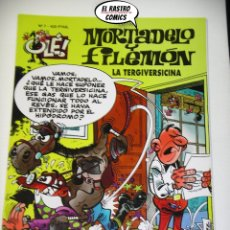 Cómics: OLÉ! Nº 7, MORTADELO Y FILEMON, IMPECABLE, B, FORMATO GRANDE, LA TERGIVERSICINA. Lote 182996225
