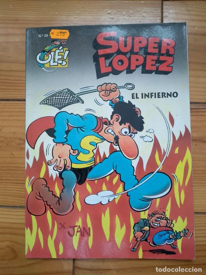 SUPER LÓPEZ Nº 28 - EL INFIERNO - BUEN ESTADO (Tebeos y Comics - Ediciones B - Clásicos Españoles)