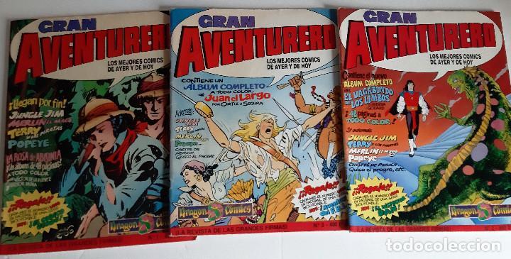 GRAN AVENTURERO - 3 ENTREGAS: 1, 2 Y 3 - LOS MEJORES COMICS DE HOY (Tebeos y Comics - Ediciones B - Otros)
