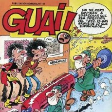 Cómics: GUAI!- Nº 168 - RAF-IBÁÑEZ-CASANYES-CHICHA-TATO-13 REBOLLING STREET-1989-CORRECTO-DIFÍCIL-LEAN-2500. Lote 186349456
