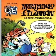 Cómics: MORTADELO Y FILEMON. LO QUE EL VIENTO SE DEJÓ. Nº 23. EDICIONES B, 1998. Lote 189732688
