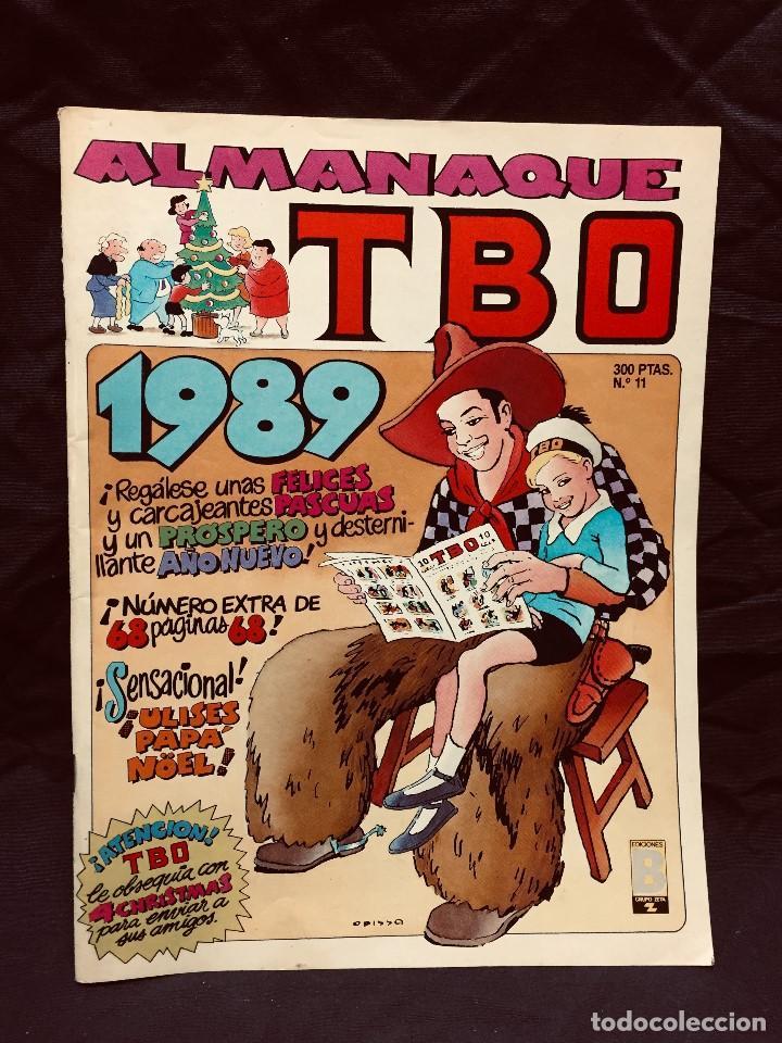 ALMANAQUE TBO Nº 11 AÑO 1989 EDICIONES B INCLUYE 4 POSTALES NAVIDAD (Tebeos y Comics - Ediciones B - Humor)