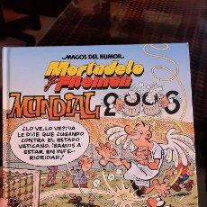 Comics: COMOC TEBEO MORTADELO Y FILEMON MAGOS DEL HUMOS MUNDIAL FUTBOL 2006 EDICIONES B TAPA DURA 110. Lote 190582461