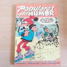 Comics : POPULARES DEL HUMOR Nº 13. MORTADELO, ZIPI Y ZAPE, PULGARCITO. EDITA EDICIONES B. MUY BUEN ESTADO. Lote 191521965