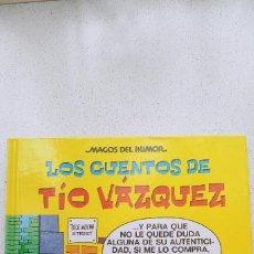 Cómics: MAGOS DEL HUMOR Nº 138 LOS CUENTOS DE TÍO VÁZQUEZ EDICIONES B PRÓLOGO SANTIAGO SEGURA 2010. Lote 191796960