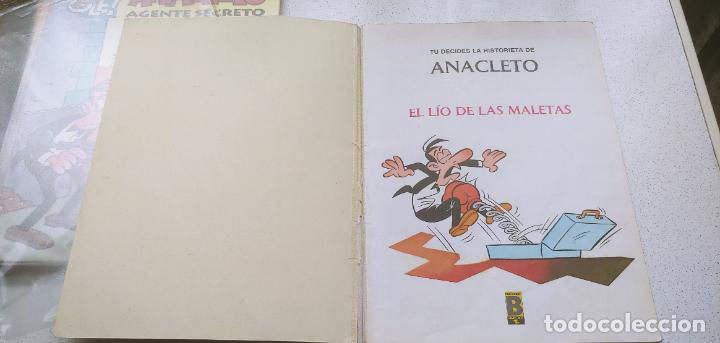 Cómics: Tu decides la historieta de ... Anacleto Ediciones B 1987 tipo elige tu propia aventura - Foto 6 - 191801121