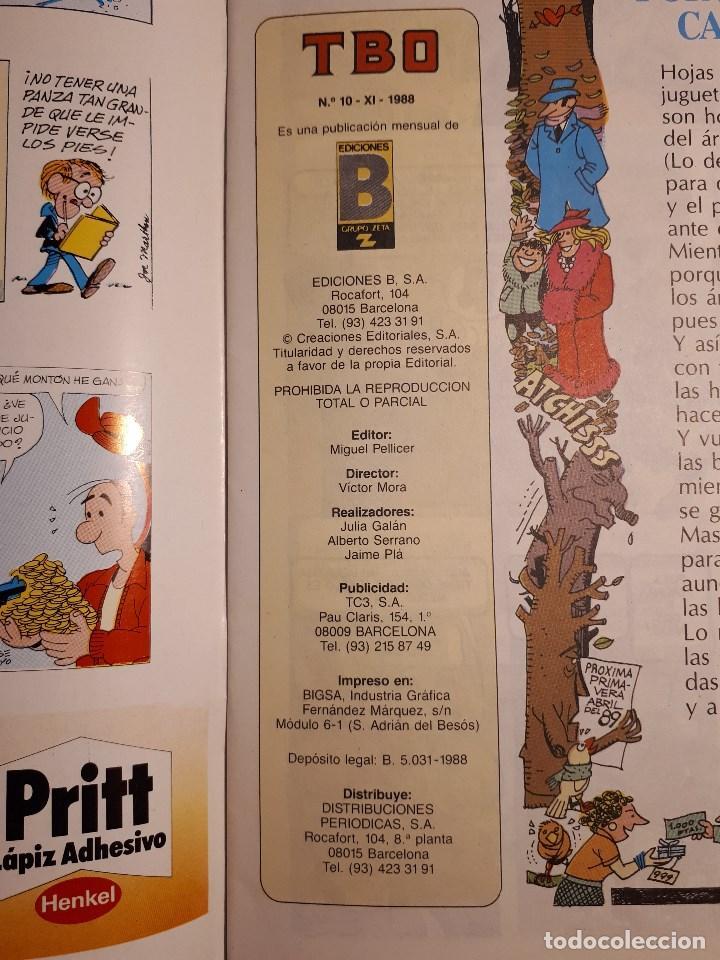 Cómics: TBO, Ediciones B 1988. del 1 al 10 - Foto 2 - 194211930