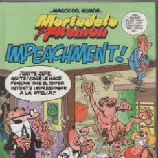 Cómics: MORTADELO Y FILEMÓN-MAGOS DEL HUMOR-B.S.A.-AÑO 1999-COLOR-Nº 80-IMPEACHMENT-TAPA DURA. Lote 194465050