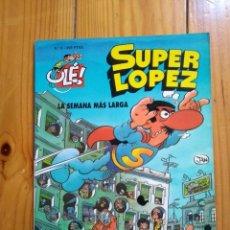 Cómics: SUPER LÓPEZ Nº 6: LA SEMANA MÁS LARGA - 2ª EDICIÓN 1994 - PORTADA EN RELIEVE - TAMAÑO GRANDE. Lote 194608531