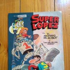Cómics: SUPER LÓPEZ Nº 14: EL ASOMBRO DEL ROBOT - 1ª EDICIÓN 1993 - PORTADA EN RELIEVE - TAMAÑO GRANDE. Lote 194608978