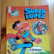 Cómics: SUPER LÓPEZ Nº 31: EL SUPERCRACK - 1ª EDICIÓN 1997 - PORTADA EN RELIEVE - TAMAÑO GRANDE. Lote 194609326