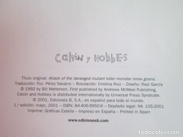 Cómics: EL LADO BUENO DE CALVIN. CALVIN Y HOBBES. BILL WATERSON. NUM 30. EDICIONES GRUPO ZETA. 2001 - Foto 5 - 194688980