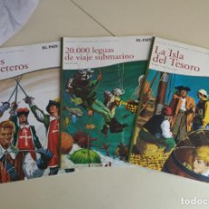 Cómics: JOYAS LITERARIAS. EL PAÍS. LA ISLA DEL TESORO. 20.000 LEGUAS DE VIAJE SUBMARINO, LOS TRES MOSQUETERO. Lote 194735797