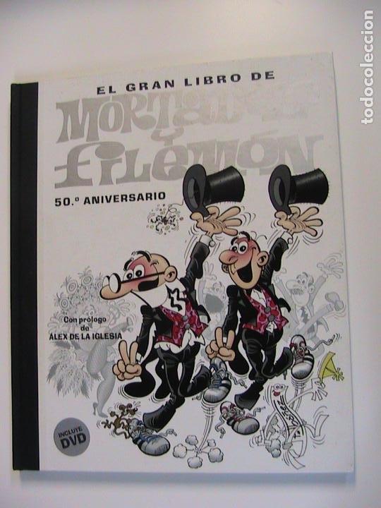 EL GRAN LIBRO DE MORTADELO Y FILEMÓN. 50 ANIVERSARIO. CON DVD. EDICIONES B, 2ª ED, 2007. (Tebeos y Comics - Ediciones B - Humor)