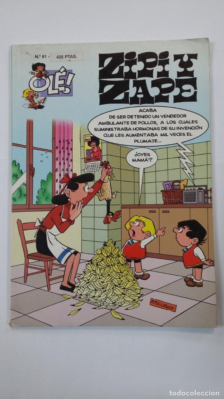 COLECCION OLE Nº 61. ZIPI Y ZAPE. EDICIONES B. TDKC48 (Tebeos y Comics - Ediciones B - Clásicos Españoles)