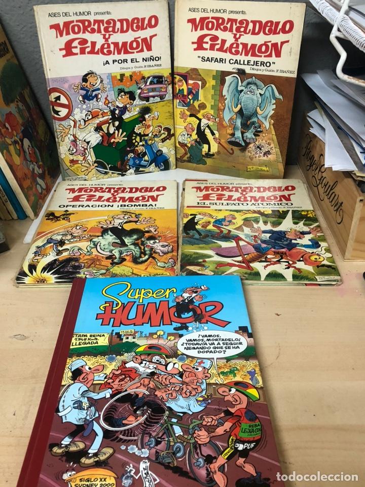 LOTE DE 5 TEBEOS MORTADELO Y FILEMON Y SUPER HUMOR EDICIONES B F IBAÑEZ (Tebeos y Comics - Ediciones B - Clásicos Españoles)