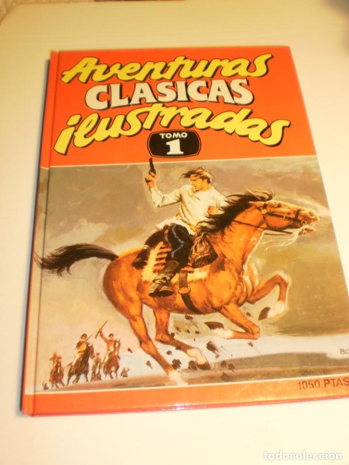 AVENTURAS CLÁSICAS ILUSTRADAS. TOMO I. MIGUEL STROGOFF Y 7 MÁS EDICIONES B 1990 (SEMINUEVO, LEER) (Tebeos y Comics - Ediciones B - Otros)