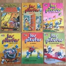 Cómics: ¡¡ LOTE OCASION !! - 6 EJEMPLARES LOS PITUFOS / COLECCION OLÉ - EDICIONES B - GCH1. Lote 195086037