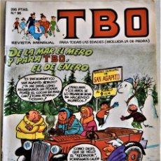 Cómics: TBO Nº 96 - DE LA MAR EL MERO Y PARA TBO, EL DE ENERO - EDICIONES B- CRUPO ZETA - TAPA BLANDA. Lote 195277520