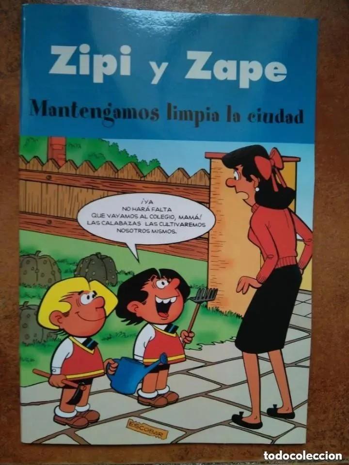ZIPI Y ZAPE - MANTENGAMOS LIMPIA LA CIUDAD (Tebeos y Comics - Ediciones B - Otros)