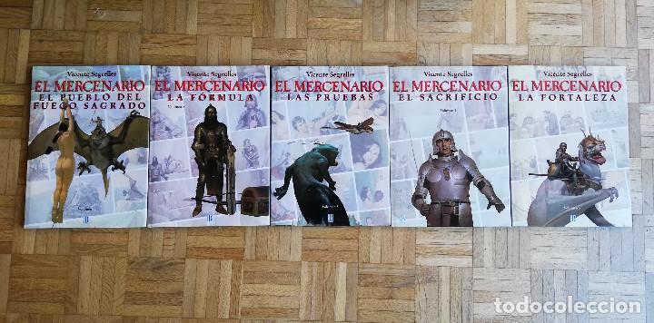EL MERCENARIO VICENTE SEGRELLES PRIMERA EDICION 1993 EL PUEBLO DEL FUEGO SAGRADO LA FORMULA (Tebeos y Comics - Ediciones B - Otros)