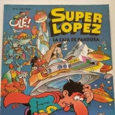Cómics: CÓMIC OLÉ! SUPER LÓPEZ Nº 8 LA CAJA DE PANDORA - GRUPO ZETA EDICIONES B 1998. Lote 195433550