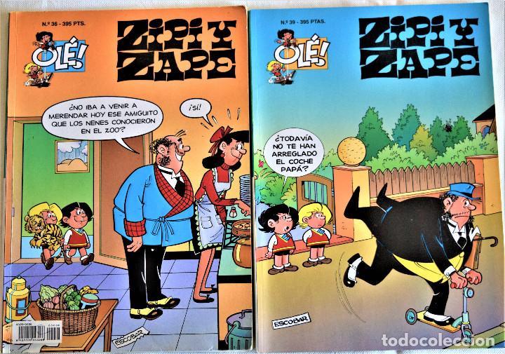 ZIPI Y ZAPE Nº 36 Y 39 - OLÉ! - 1º EDICION 1995 - ESCOBAR - TAPA BALDA (Tebeos y Comics - Ediciones B - Humor)