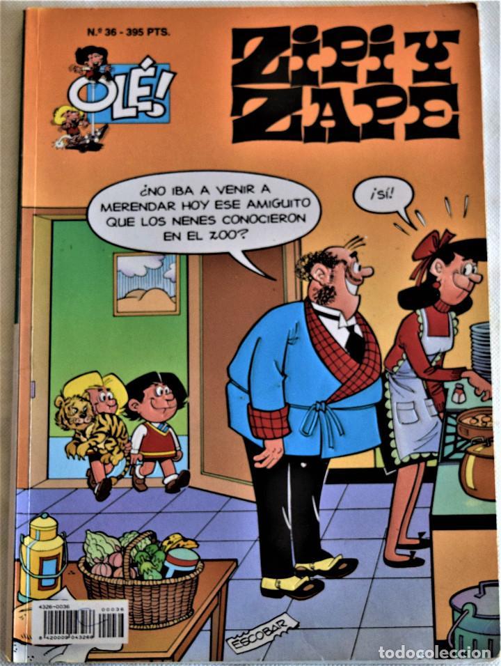 Cómics: ZIPI Y ZAPE Nº 36 Y 39 - OLÉ! - 1º EDICION 1995 - ESCOBAR - TAPA BALDA - Foto 2 - 195812220