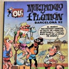 Cómics: MORTADELO Y FILEMON Nº 1 - OLE! - BARCELONA 92 - EDICIONES B - 1º EDICIÓN 1992 - TAPA BLANDA. Lote 195813486