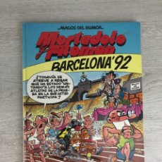 Fumetti: MORTADELO Y FILEMON MAGOS DEL HUMOR BARCELONA 92 EDICIONES B IBAÑEZ FRANCISCO. Lote 195863970