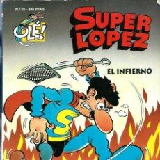 Cómics: JAN - SUPERLOPEZ SUPER LOPEZ Nº 28 - EL INFIERNO - EDICIONES B 1996, 1ª EDICION TROQUELADO - DIFICIL. Lote 197237915