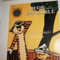 Comics: FANS CALVIN Y HOBBES. PEOR.. IMPOSIBLE. COLOR B/N 64 PÁG RÚSTICA 1999 (SEMINUEVO). Lote 200578517
