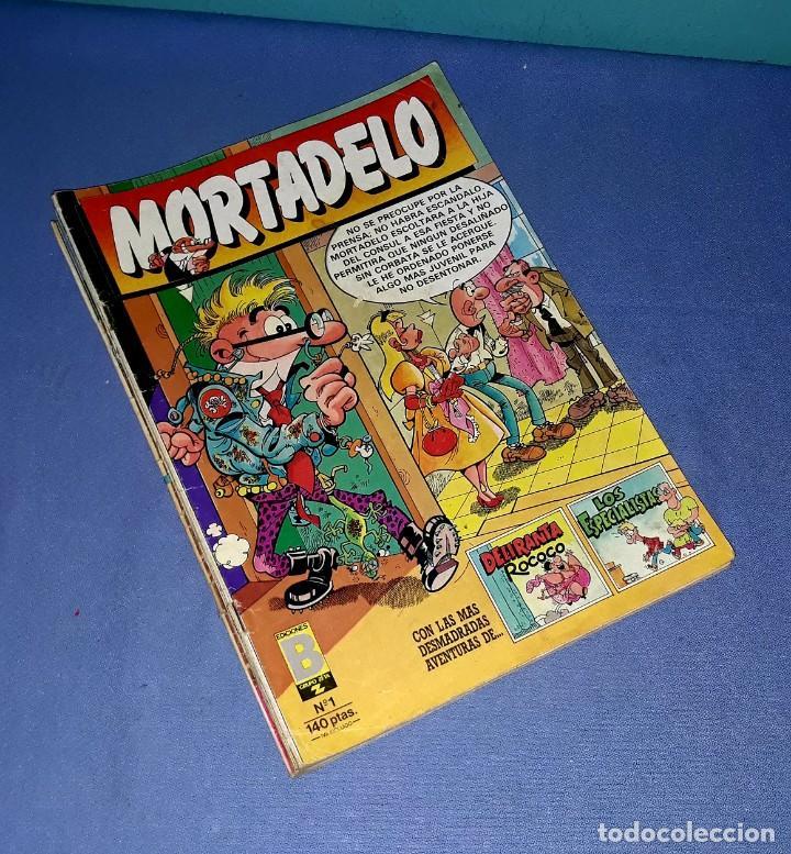 LOTE DE 9 COMICS DE MORTADELO Y SUPER MORTADELO EDICIONES B ANTIGUA BRUGUERA AÑOS 80 ORIGINALES (Tebeos y Comics - Ediciones B - Clásicos Españoles)