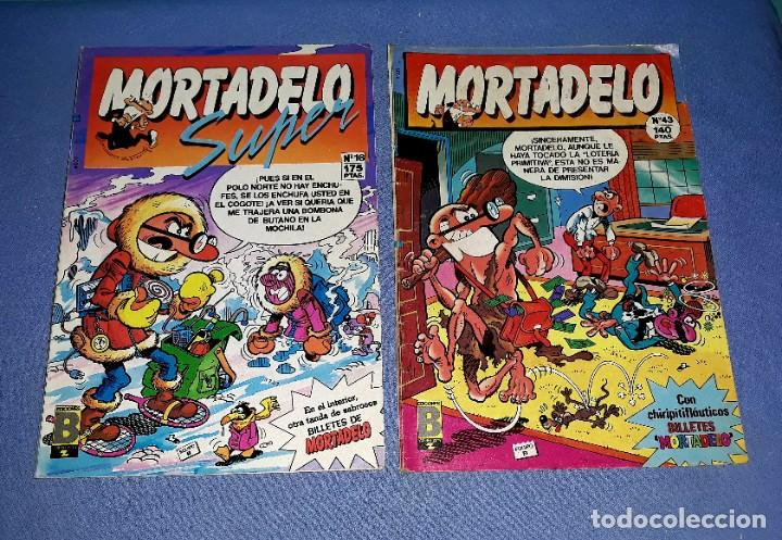 Cómics: LOTE DE 9 COMICS DE MORTADELO Y SUPER MORTADELO EDICIONES B ANTIGUA BRUGUERA AÑOS 80 ORIGINALES - Foto 5 - 217125301