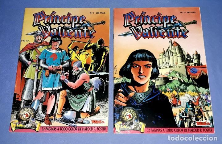 Cómics: LOTE DE 4 COMICS DE EL PRINCIPE VALIENTE EDICION HISTORICA EDICIONES B AÑOS 80 ORIGINALES - Foto 2 - 202312402