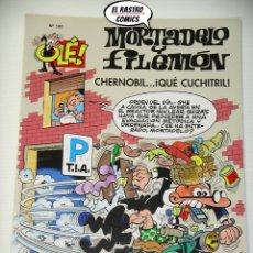 Comics: OLÉ! Nº 190, MORTADELO Y FILEMON, EDICIONES B, FORMATO GRANDE, CHERNOBIL QUE CUCHITRIL (B). Lote 203039578