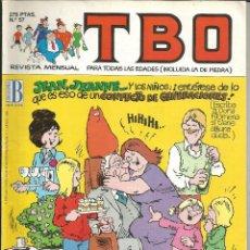 Cómics: TBO Nº 57 - EDICIONES B. Lote 204479972