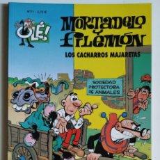Cómics: CÓMIC OLÉ! MORTADELO Y FILEMÓN Nº 71 LOS CACHARROS MAJARETAS - GRUPO Z EDICIONES B 2002. Lote 205407462