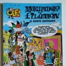 Cómics: CÓMIC OLÉ! MORTADELO Y FILEMÓN Nº 47 EL QUINTO CENTENARIO - GRUPO Z EDICIONES B 2000. Lote 205407870