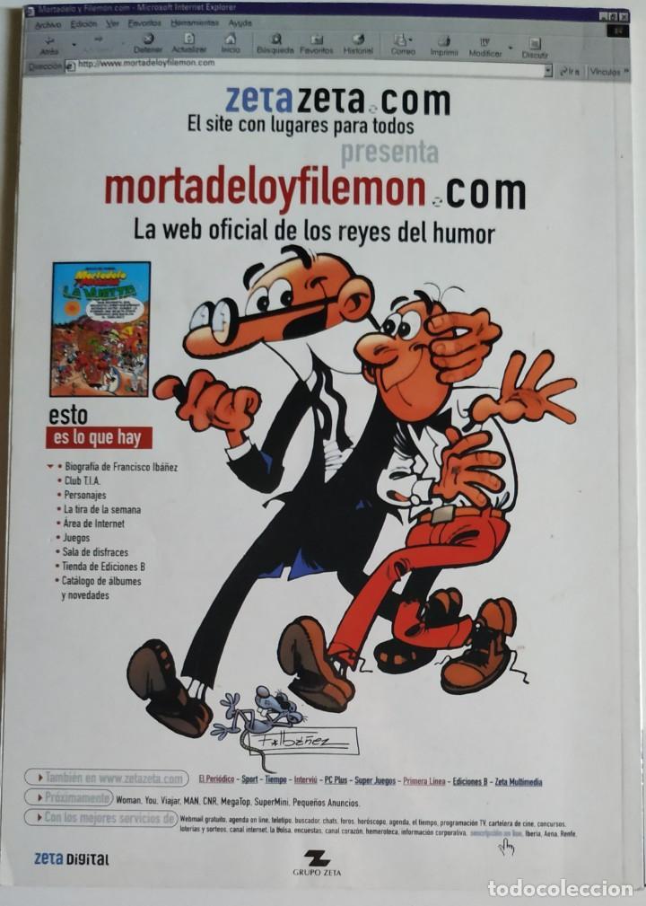 Cómics: Cómic OLÉ! MORTADELO Y FILEMÓN nº 44 El Preboste De Seguridad - Grupo Z Ediciones B 2001 - Foto 2 - 205408378