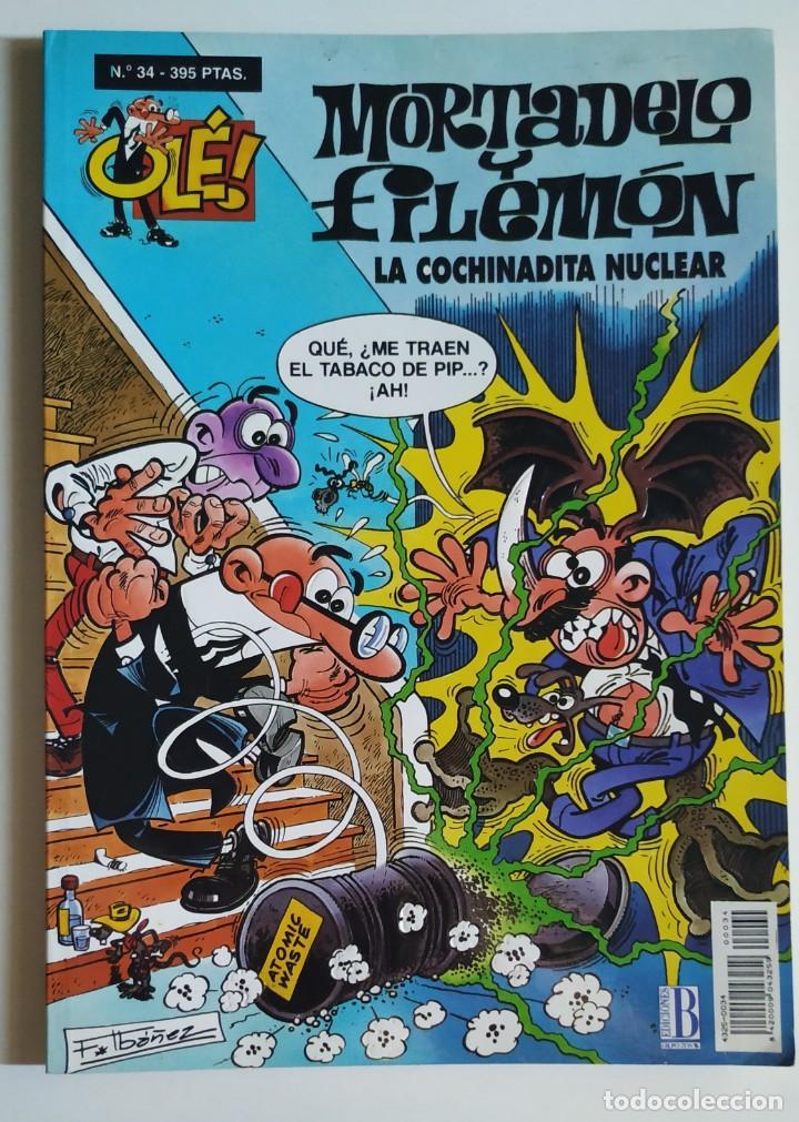 CÓMIC OLÉ! MORTADELO Y FILEMÓN Nº 34 LA COCHINADITA NUCLEAR - GRUPO Z EDICIONES B (Tebeos y Comics - Ediciones B - Humor)