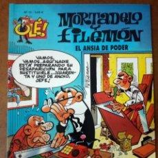 Cómics: MORTADELO Y FILEMON COL. OLE Nº 10 EL ANSIA DE PODER - EDICIONES B - BUEN ESTADO - SUB01MR. Lote 205598953